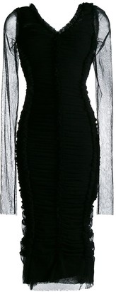 Dolce & Gabbana Ruched Fitted Dress