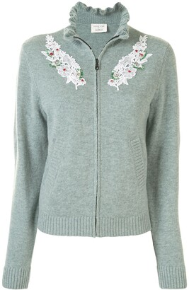 Onefifteen Embellished Zip-Up Cardigan