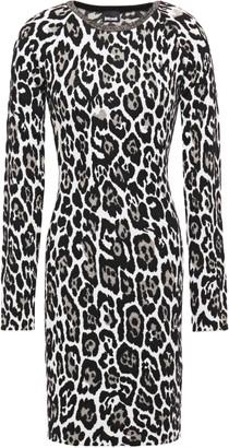 Just Cavalli Metallic Leopard-jacquard Mini Dress
