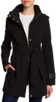Via Spiga Hooded Waist Belt Coat (Petite)