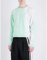 Haider Ackermann Raw-edge Cotton-jersey Sweatshirt