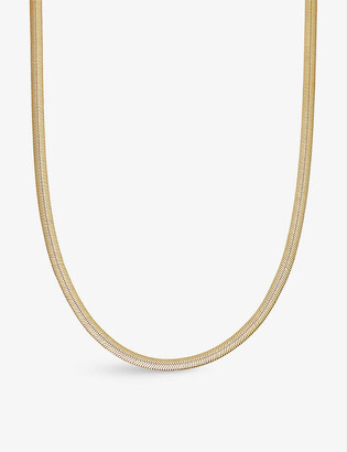 Missoma Serpente 18ct gold-plated vermeil silver necklace