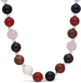 Elyse Ryan Sterling Silver Multi-Color Bead Neckalce