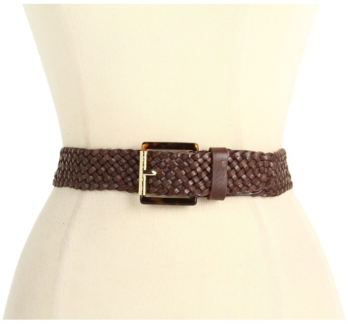 MICHAEL Michael Kors Michael Kors 30MM Tort Roller With Braid (Chocolate) - Apparel