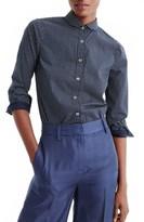 J.Crew Women's Polka Dot Button-Up Shirt