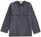 ZEF Striped America Kurta Shirt with Wood Buttons
