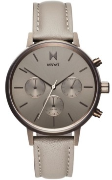 MVMT Women's Nova Lyra Taupe Leather Strap Watch 38mm