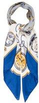 Rolex Pocket Watch Print Silk Scarfs