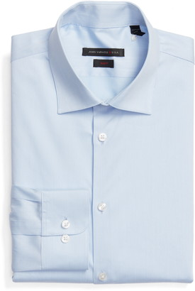 John Varvatos Extra Trim Fit Stripe Stretch Dress Shirt