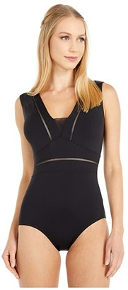 Bloch Mesh Back Tank Leotard (Black) Women's Jumpsuit & Rompers One Piece