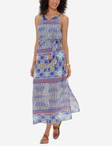 The Limited Tasseled Scarf Print Maxi Dress