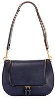 Anya Hindmarch Vere Satchel Bag w/ Python Strap, Blue