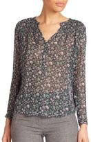Rebecca Taylor Long Sleeved Silk Blouse