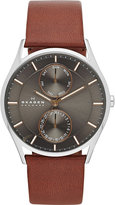 Skagen Skw6086 Holst Stainless Steel And Leather Watch