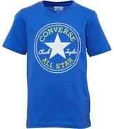 Converse Junior Boys Chuck Patch T-Shirt Oxygen Blue