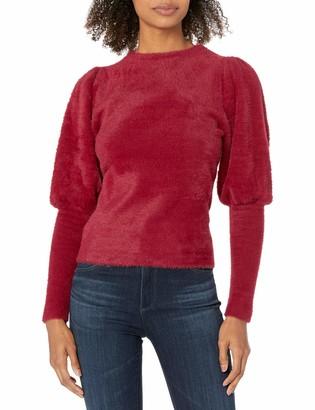 Keepsake Women's Cheerful Puff Sleeve Sweater Knit Top