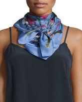 Gucci New Flora Silk Twill Scarf