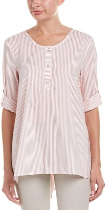 Max Studio Women's Stripe Longsleeve Shirting with Buttons