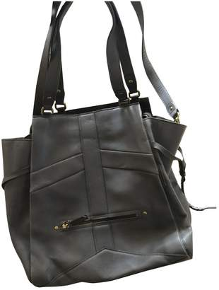 Jerome Dreyfuss Anatole Grey Leather Handbags