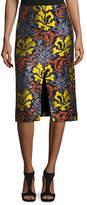 Derek Lam Floral Brocade Pencil Skirt, Multi Pattern