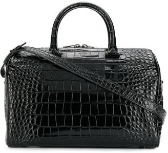 Saint Laurent Crocodile Embossed Duffle Bag