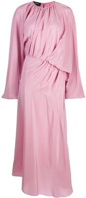 Rochas Ruched Silk Midi Dress