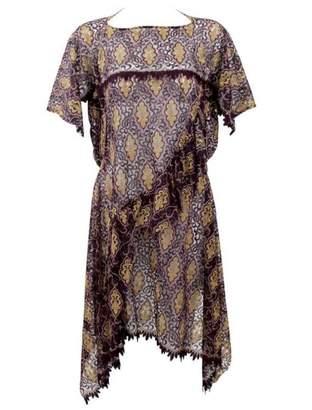 Comme des Garcons Burgundy Polyester Dresses