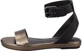 Vince Abbey Ankle-Strap Sandal, Black/Lead