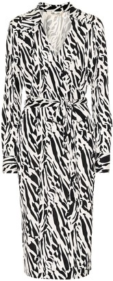 Diane von Furstenberg Naomi printed silk midi wrap dress