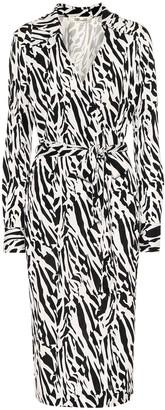 Diane von Furstenberg Naomi printed silk midi wrap dress