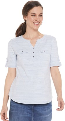 Croft & Barrow Women's Utility Henley Top