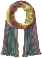 M Missoni Multicolor Plisse Scarf Scarves