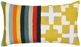 west elm Wallace Sewell Blocks and Stripes Crewel Cushion, Multi
