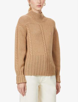 KHAITE Maude cable-knit cashmere jumper