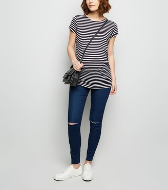 New Look Maternity Ripped Over Bump Jeggings