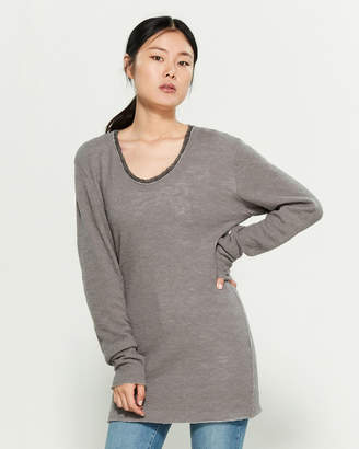 Transit Raw Seam Double Layer Long Sleeve Tee