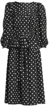 Marc Jacobs Runway Polka Dot Peasant Dress