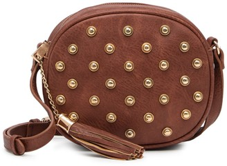 Urban Expressions Circle Studded Crossbody Bag