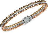 LeVian Le Vian® Chocolatier Diamond Tri-Tone Bracelet (3-9/10 ct. t.w.) in 14K Yellow, White and Rose Gold