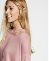 Express one eleven slash neck off the shoulder sweatshirt