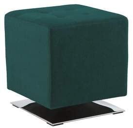 Wade Logan Brigg Marco Tufted Cube Ottoman Fabric: Onyx Faux Leather