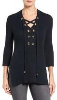 MICHAEL Michael Kors Lace-Up Tunic Sweater (Regular & Petite)