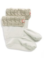 Hunter Short Cable Knit Cuff Welly Boot Socks