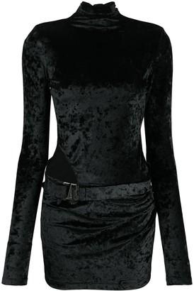 Misbhv Crushed Velvet-Style Mini Dress
