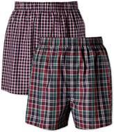 Navy Check 2 Pack Boxer Shorts