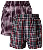 Navy Check 2 Pack Boxers