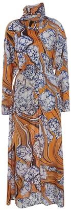 Rosie Assoulin Orange Silk Dresses