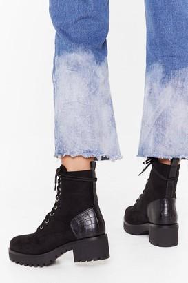 Crocs Nasty GalNasty Gal Womens Croc'S Going On Faux Suede Hiker Boots - Black - 5, Black