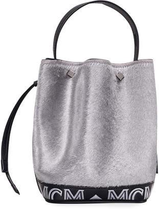 MCM Milano Lux Drawstring Mini Shoulder Bag