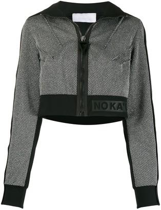 NO KA 'OI Funnel-Neck Cropped Jacket